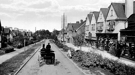 Station Road in Letchworth in 1910