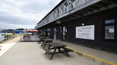 The eatery is situated at the boatyard, inside of the former yacht club
