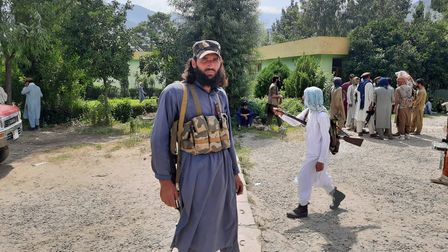Ashna Shinwari has sent in pictures of the Taliban in Kabul where he is currently stranded