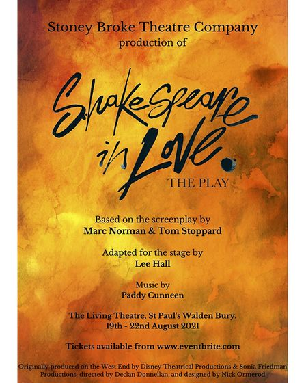 Shakespeare in Love can be seen atThe Living Theatre atSt Paul's Walden Bury, Whitwell.