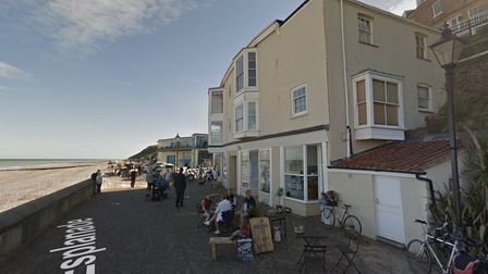 A bid to convert two flats on Cromer's seafront into one property has been lodged with North Norfolk District Council.