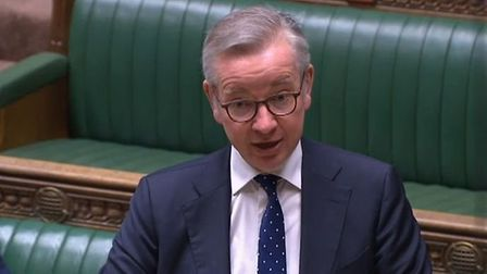 Michael Gove appears in the House of Commons. Photograph: Parliament TV.