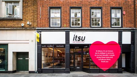 The new St Albans itsu restaurant is in St Peter's Street.