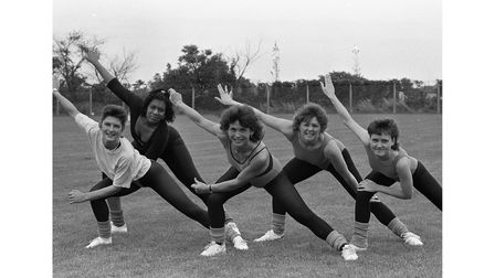Keep Fit at Whitton Sports Centre Community Day in Ipswich in 1988