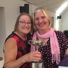 St Ives Golf Club's lady captain Marie Woodall (left) withChristine Rowland-Jones who won the Lady Captain's Trophy