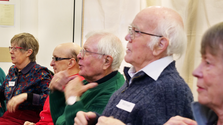 Archive: Participants taking part in a Together In Sound session, Saffron Walden, Essex