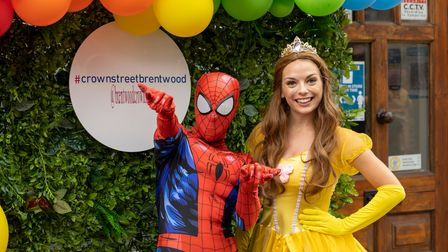 Festivalgoers got the chance to meet Spiderman