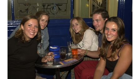 Enjoying a night out at the Golden Lion Ipswich in 2002
