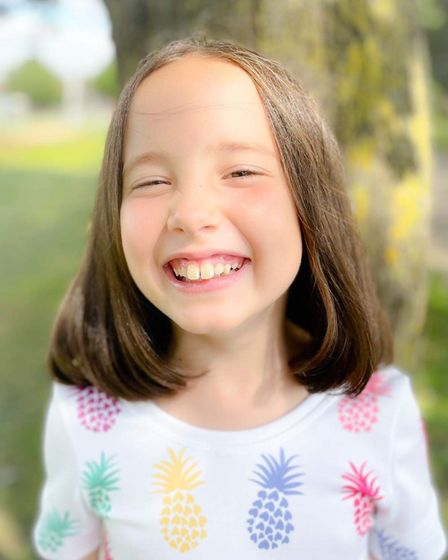 Luella Campagna, 8, had the chop to help children with cancer