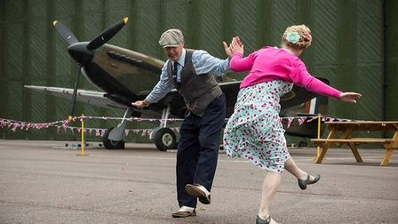 Living History groups will set up all over the Duxford airfield
