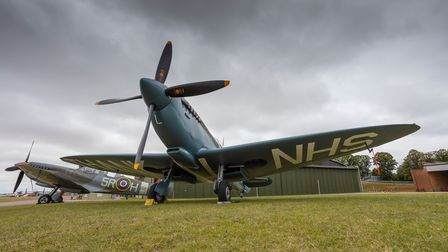 The NHS Spitfire on display at IWM Duxford.