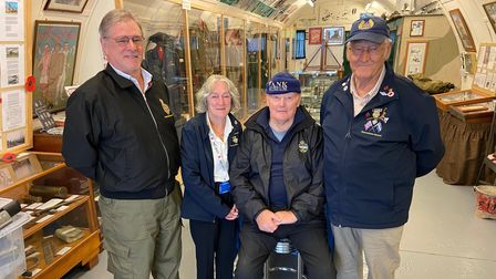 From L to R: Brian Bandy, Ann Rogerson, Maurice Eke and Fred Squires from the Wymondham RBL branch