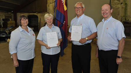 Lieutenant-Colonels Drew and Bev McCombe with Majors Norman and Margaret Ord,Herts and Essex Salvation Army