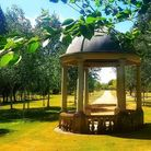 The Temple and Gardens at Harwood Park Crematorium on the outskirts Stevenage