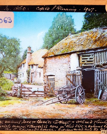 Privately made slide of Bess's Cottage and the Walnut Tree in Cheshire(PR35709)