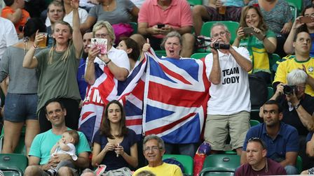 Jody Cundy's parents cheer on the Wisbech athlete