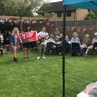 KJAR teacher Kim Chappell's garden party in Therfield for the Teenage Cancer Trust.