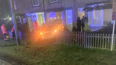 Rude awakening as an Audi smashes into terraced home in Wisbech