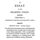 The first page of Parkinson's classical essay on shaking palsy.