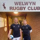 Josh Milton (left) will captain Welwyn Rugby Club for the new season, assisted by vice-skipper Chris Kemp.