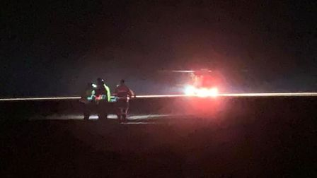 Wells and Cley Coastguard were called to Holkham beach on Saturday night after a woman fell from ahorse.