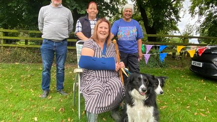 Jonathan Joplin, Tracey Buttle, Wendy Seal and Mary Osborne at Tittleshall Dog Show