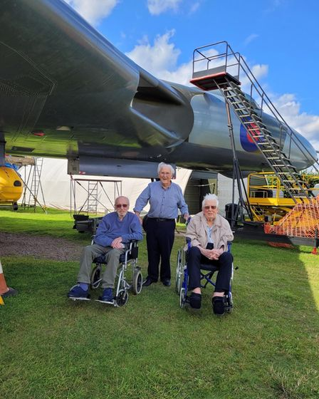 Residents from The Warren Care Home enjoying the City of Norwich Aviation Museum