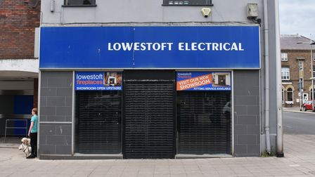 The former Lowestoft Electrical store the corner of London Road North and Regent Road in Lowestoft.