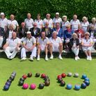 Winscombe Bowls Club celebrated 100 years of village bowls with a visit from Bowls England