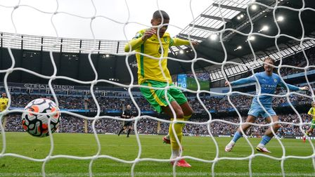 Manchester City's Jack Grealish doubles the hosts' lead against Norwich City