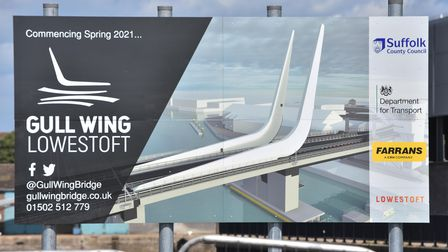 Works are continuing as part of the £126.75m Gull Wing bridge in Lowestoft.