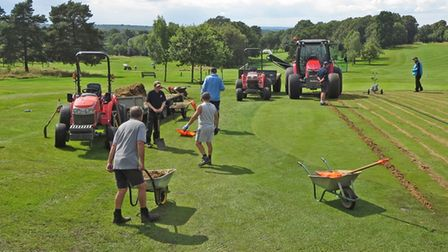 The second part of major drainage work was completed at Brookmans Park Golf Club with help from an army of volunteers.