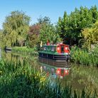 A canal boat on Taunton Canal
