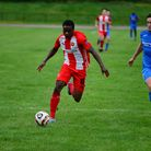 Clapton in action against AFC Dunstable in the FA Cup