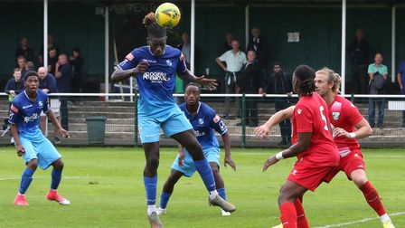 Wingate & Finchley in action against Leatherhead at Fetcham Grove