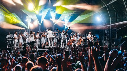 The Urban Soul Orchestra performing at Classic Ibiza 2021 in Hatfield.