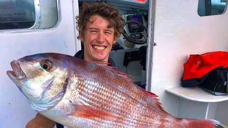 Shay Upham with a couches bream.