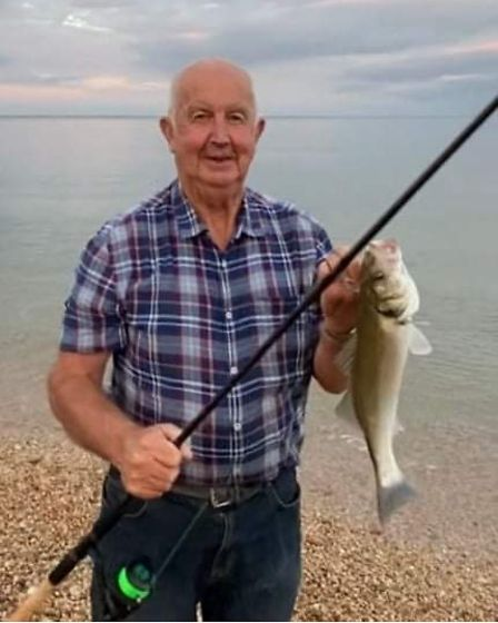 Chris Whittle with a bass from Slapton