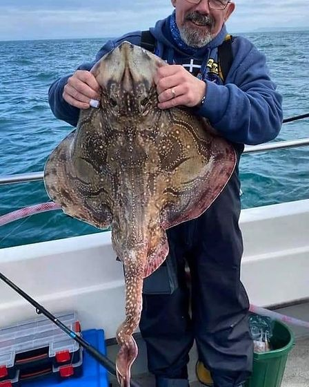 A13lbs 8oz undulate ray caught out of Lyme Regis