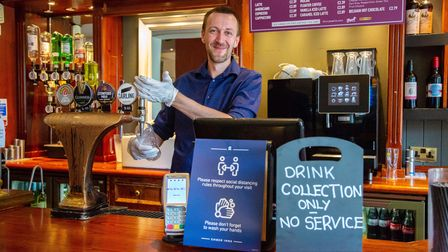Manager Simon Robdrup at The Optimist in Upminster which opened its doors to serve its first drinks