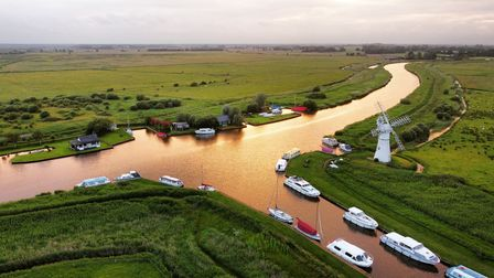 The Norfolk Borads with the Thurne Windmill in the picutre.