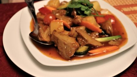 The sweet and sour mock duck (£11) at Bann Thai restaurant in Cromer. Picture: Stuart Anderson