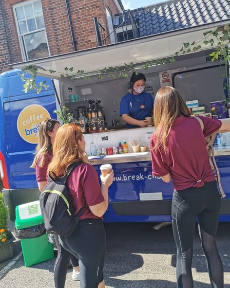 The teams were treated to hog roast and refreshments from the Break coffee van