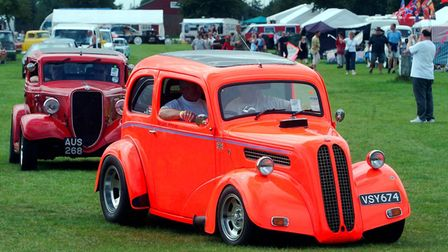 A couple of the vehicles atthe NASC Hot Rod show at the Suffolk Showground in 2004