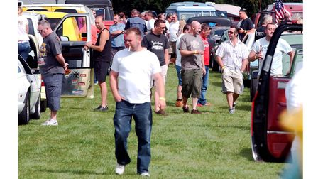 Some of the crowds enjoying the NASC Hot Rod show at the Suffolk Showground, Ipswich in 2004