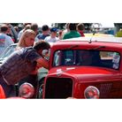 Looking at the vehicles at the NASC Hot Rod show at the Suffolk Showground in 2004