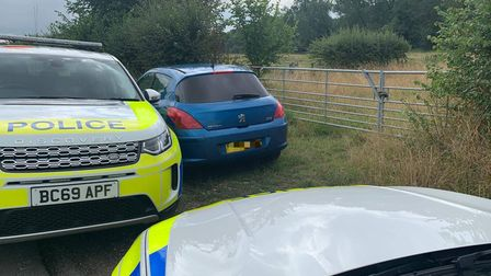 The recovered vehicle was the first of the hare hoursing season for Cambs rural police.
