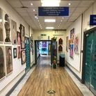 The hospital's corridors are lined with artwork