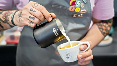 KRA:FT Koffee barista pouring handmade coffee in Wakefield