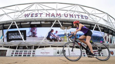 EDITORIAL USE ONLY A digital billboard is unveiled by London & Partners at Queen Elizabeth Olympic P